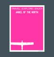 angel of the north gateshead united kingdom vector image