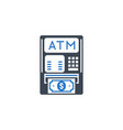 atm related glyph icon vector image vector image
