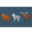 bear wolf and moose icons image vector image vector image