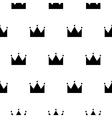 Black and white princess crown seamless pattern vector image
