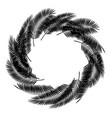 black palm leaf on white background vector image vector image