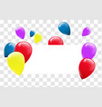 blank banner with color balloons vector image