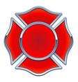 blank fire department logo base vector image