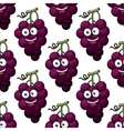 Bunch of purple grapes seamless pattern vector image vector image