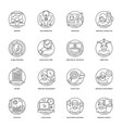 business line icons 3 vector image vector image