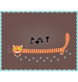 cat and three mouse vector image