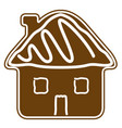 christmas house building gingerbread cookie vector image