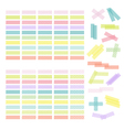 Collection of colorful adhesive tape or stickers vector image