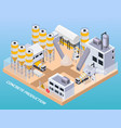 concrete production factory composition vector image vector image