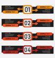 creative infographics designs vector image