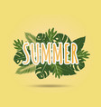 creative summer background with tropical leaves vector image vector image