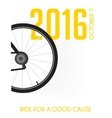 cycling race poster design ride for a good cause vector image