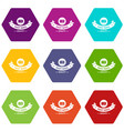 delivery quality icons set 9 vector image vector image