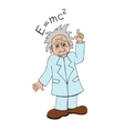 Einstein on a white background vector image