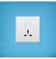 Electric socket with button vector image