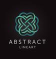 elegant abstract monogram line art design vector image vector image