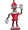 fanatasy robot cartoon vector image vector image