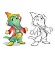 Fantasy mascot crocodile cartoon vector image vector image