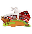 farm scene with farm animals vector image