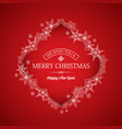 festive winter holidays greeting template vector image vector image