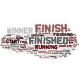 finishing word cloud concept vector image vector image