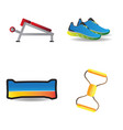fitness object icons vector image