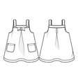 front and back view a sundress vector image