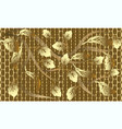 gold baroque floral 3d seamless pattern vector image vector image
