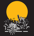 Halloween zombie night vector | Price: 1 Credit (USD $1)