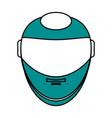 helmet flat vector image vector image
