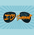 i love summer summer calligraphic poster vector image