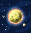 io cartoon yellow jupiter vector image vector image