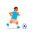 little arab boy playing football healthy lifestyle vector image