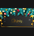 merry christmas and happy new yearuniversal vector image vector image