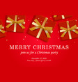 merry christmas web page template vector image vector image