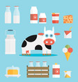 milk icon vector image vector image