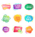 modern set abstract sale banners special offer vector image vector image
