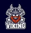 modern skull viking and diesel logo vector image