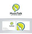 music talk logo design vector image vector image