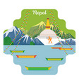 nepal travel and attraction landmarks vector image vector image