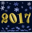New year Gold 2017 vector image vector image