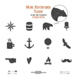 Outdoor icons and elements set for creation hiking vector image