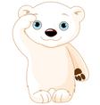 Polar Bear Salute vector image vector image