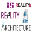 Reality and architecture logos vector image vector image