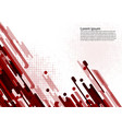 red color geometric abstract background vector image vector image