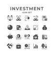 set modern icons investment vector image