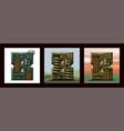set numerals 8 military alphabet font vector image