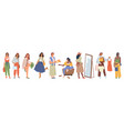 shopping woman trying choosing cloth in store shop vector image vector image