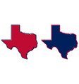 simplified map texas outline fill and stroke vector image vector image