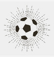 soccer or futball ball print vector image vector image